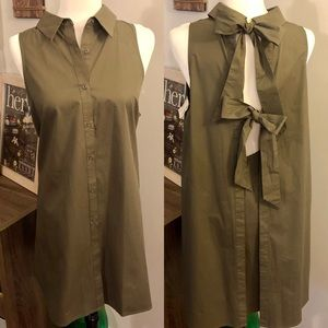 [Impeccable Pig] Olive Green Tank Dress